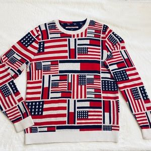 Men's Tommy Hilfiger American Flag Sweater Size M